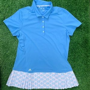 Adidas Tennis Athletic Polo & Pleated Skirt Large